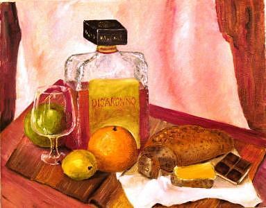 Disaronno Painting by Jenia Tyshchenko
