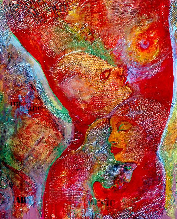 Breast Painting - Disassembled by Claudia Fuenzalida Johns