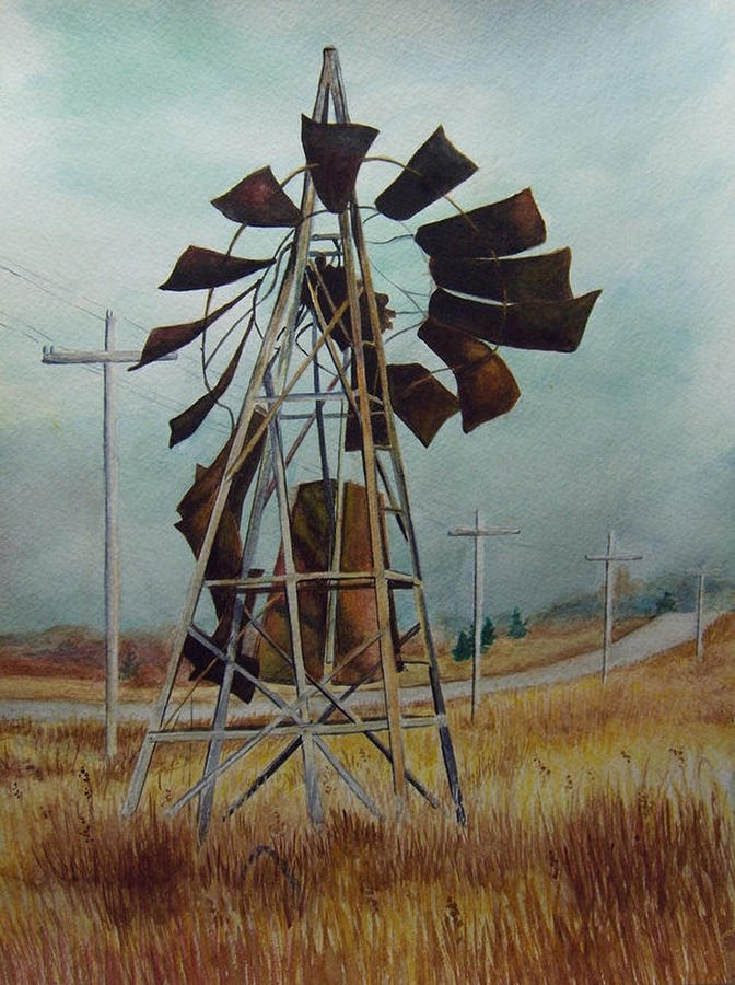 Landscape Painting - Discarded Along The Road by Marcus Moller