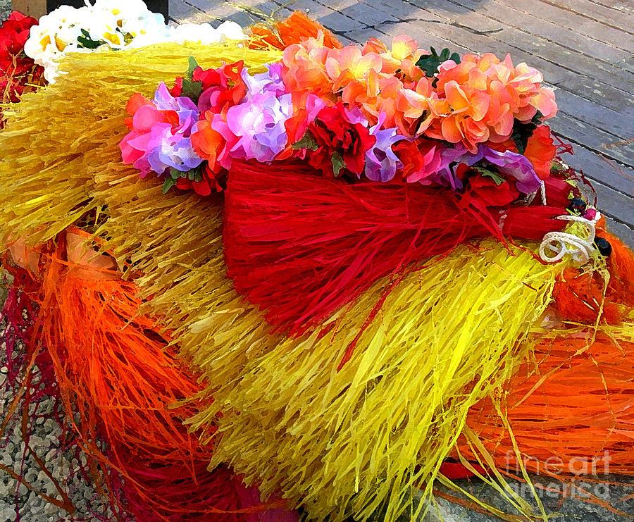 Hula Photograph - Discarded hula skirts by Ruth Kongaika