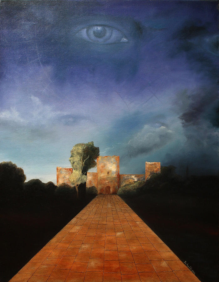 Castle Painting - Disclosure Of The Hidden by Darko Topalski