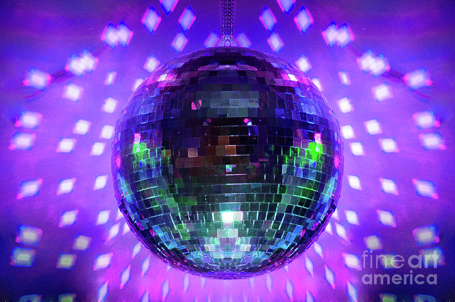 Disco Ball Photograph - Disco Ball Purple by Andee Design