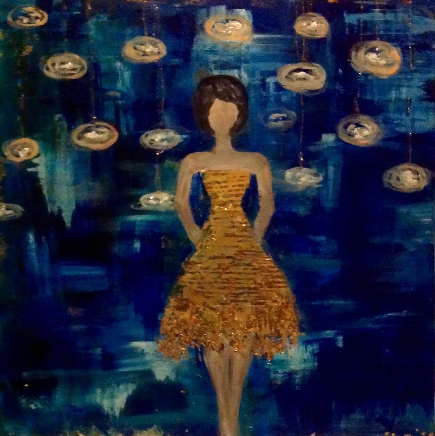 Blues Painting - Disco Queen by Anna Lee De Llano