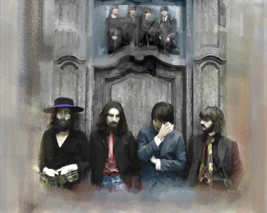 Discontent The Beatles Painting by Iconic Images Art Gallery David Pucciarelli