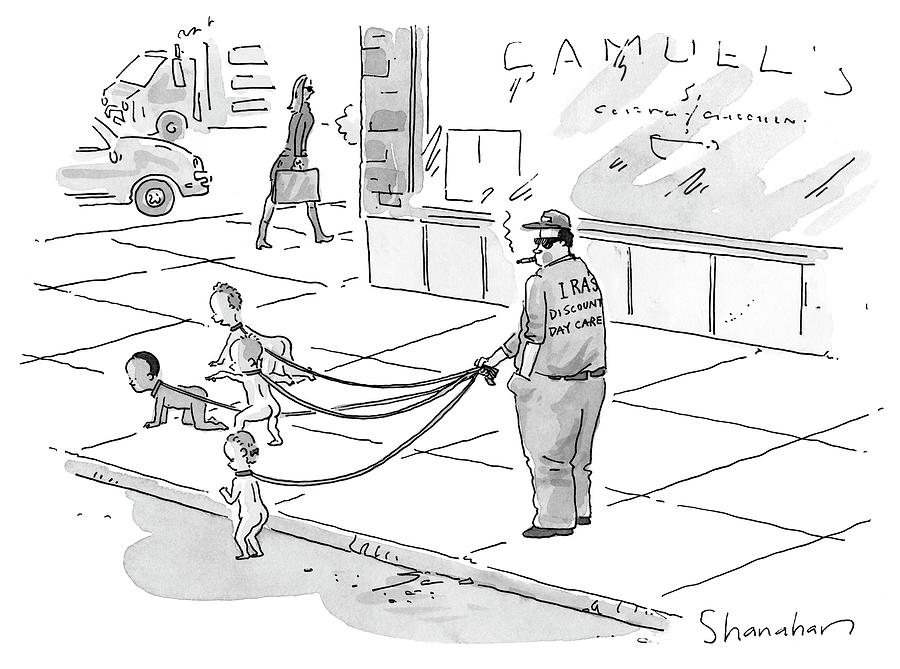 Discount Day Care Drawing by Danny Shanahan