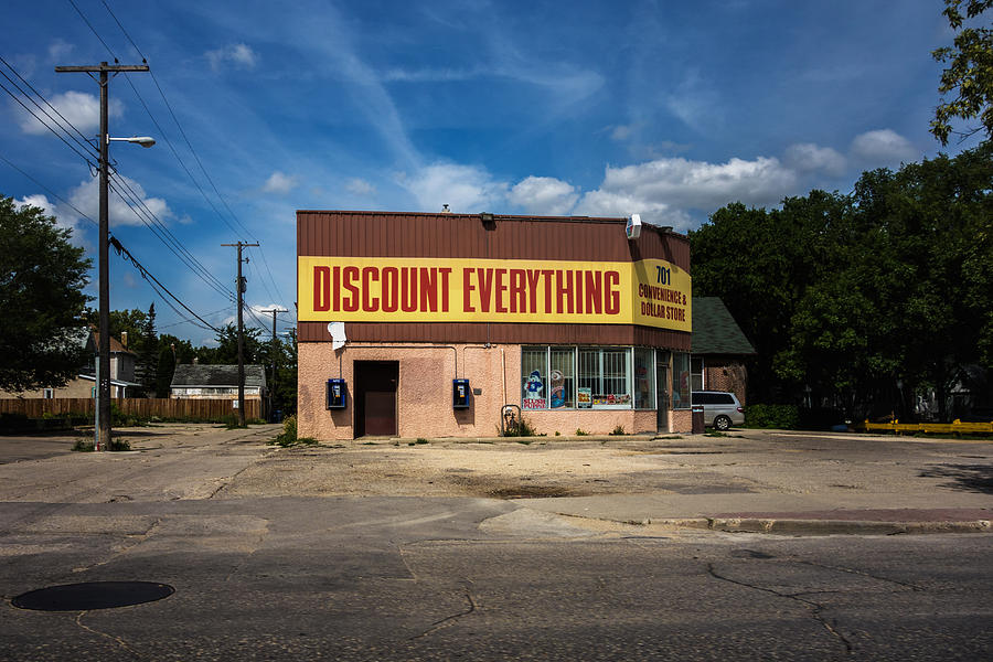 Architecture Photograph - Discount Everything by Bryan Scott