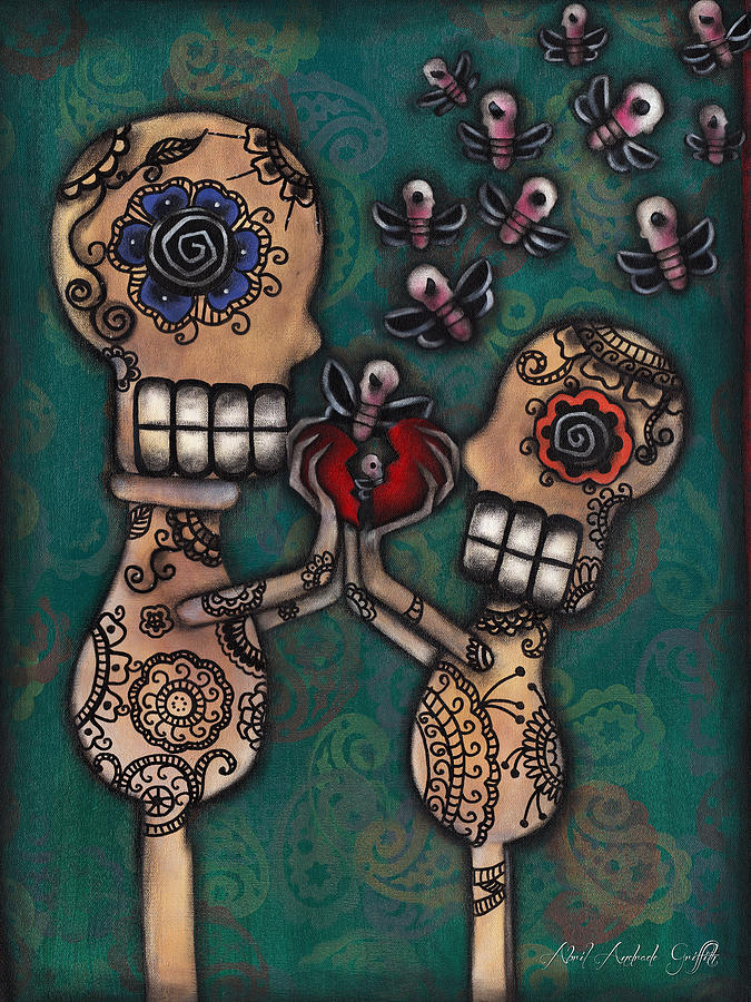 Day Of The Dead Painting - Discover by  Abril Andrade Griffith