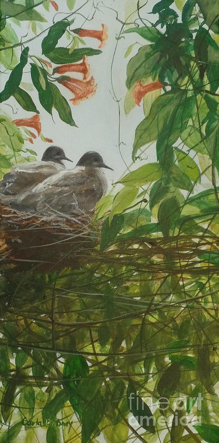 Doves Painting - Discovered by Carla Dabney