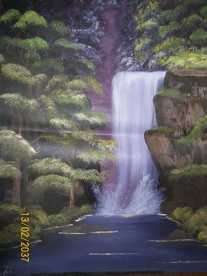 Landscape Painting - Discovering Life by Wafula Innocent