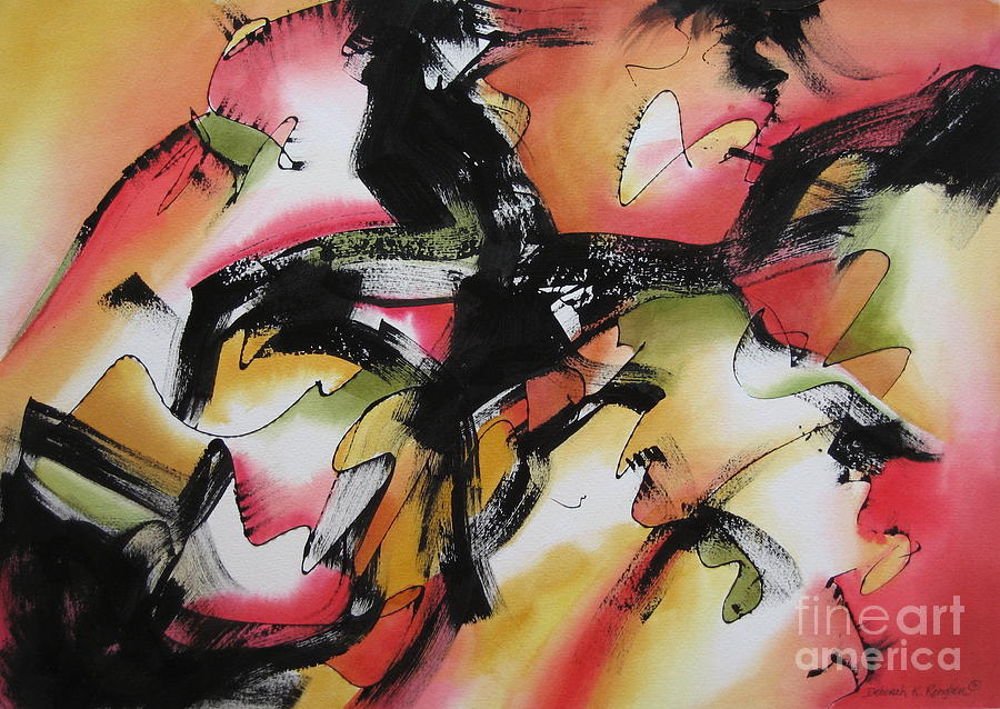 Abstract Contemporary Painting - Discovery by Deborah Ronglien