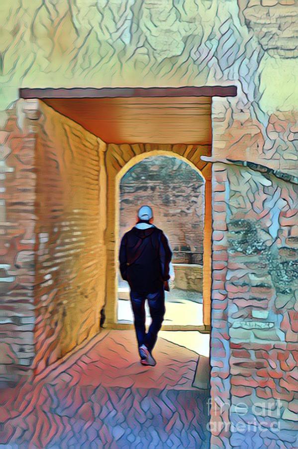 Man Digital Art - Discovery In Grenada - Alhambra by Aline Halle-Gilbert