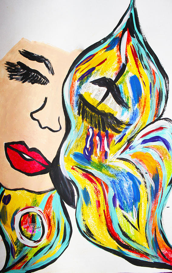 Woman Painting - Discovery Of Excellence by Artista Elisabet