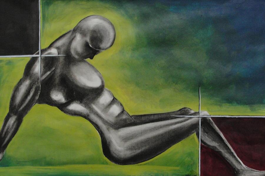 Man Painting - Disected by Mrutyunjaya Dash