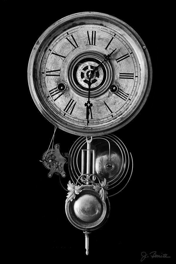 Clock Photograph - Disembodied Time by Joe Bonita