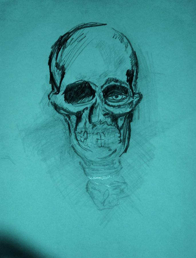 Disisyobrainondugs Drawing by Dorian Williams