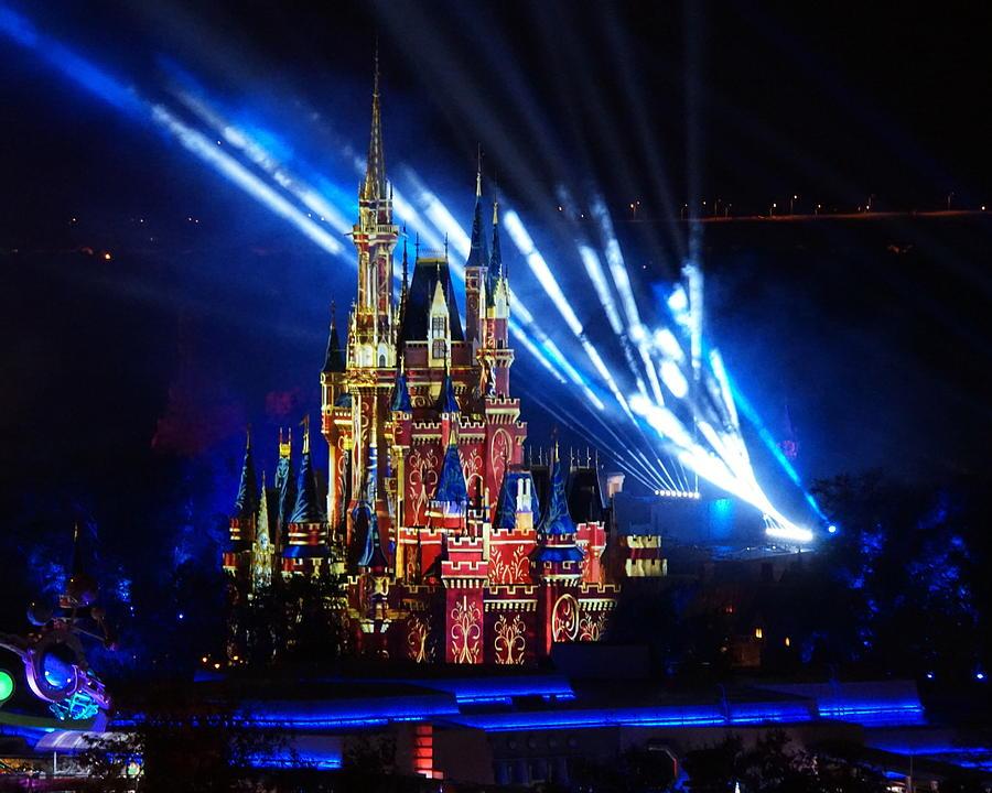 Disney Castle At Night Digital Art By Katy Hawk