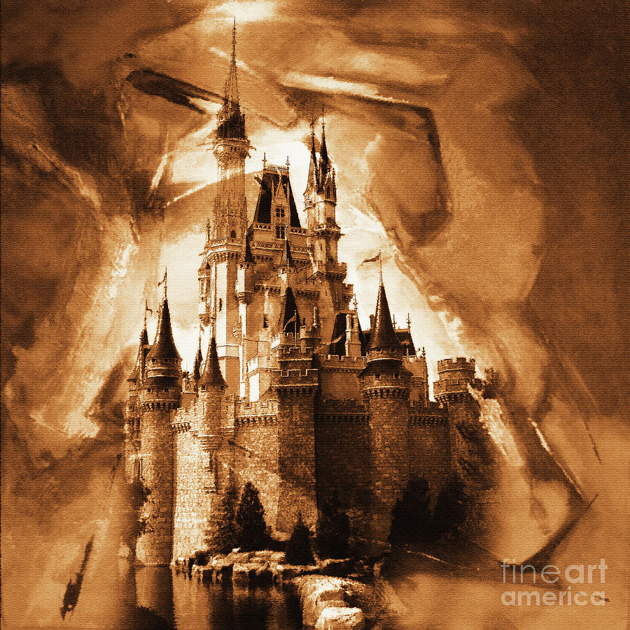 Castle Painting - Disney Cinderella Castle   by Gull G