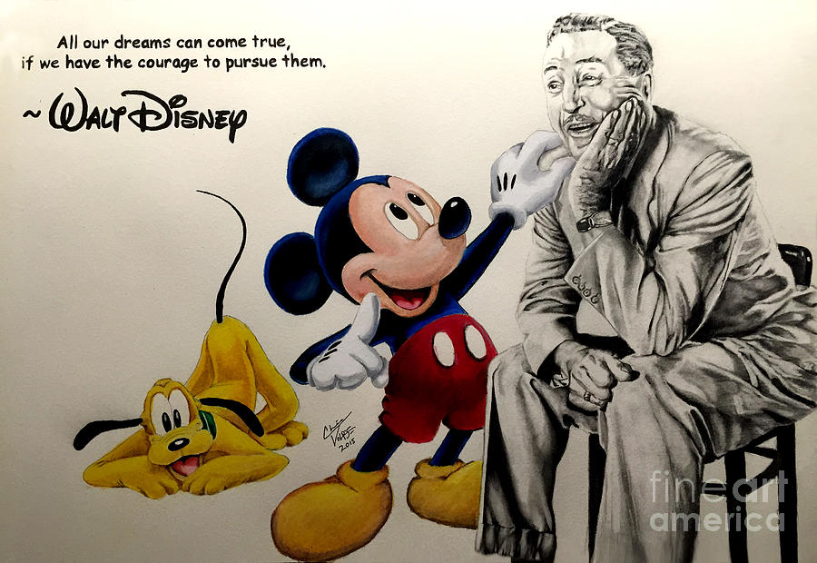 disney dreams come true drawing by chris volpe