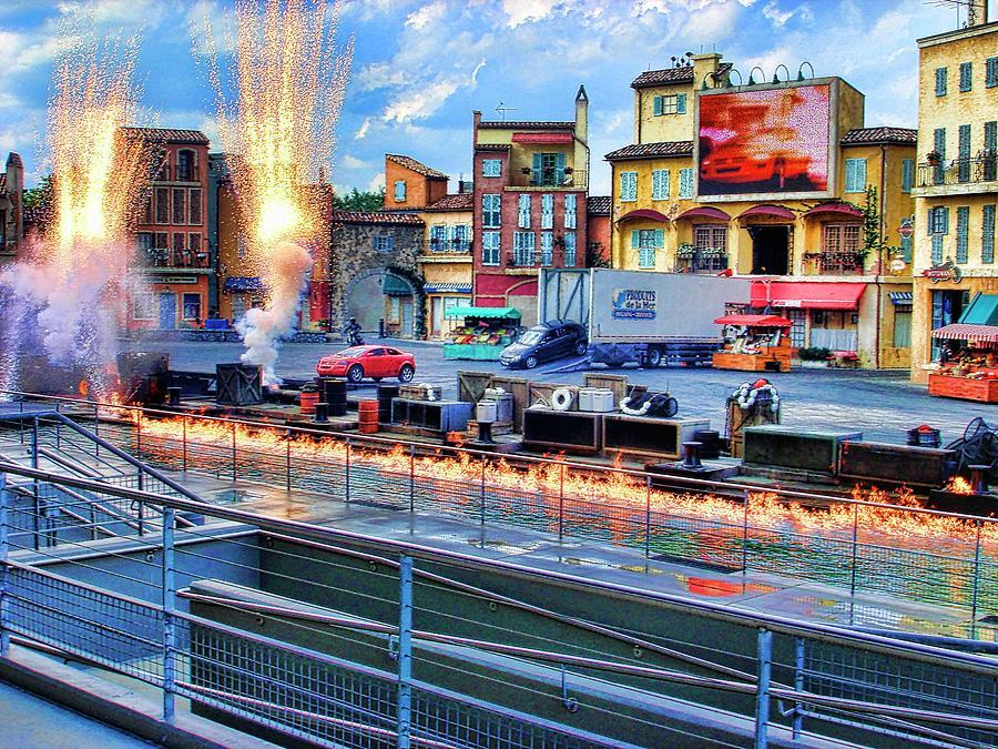 Auto Photograph - Disney Orlando by Francesco Roncone