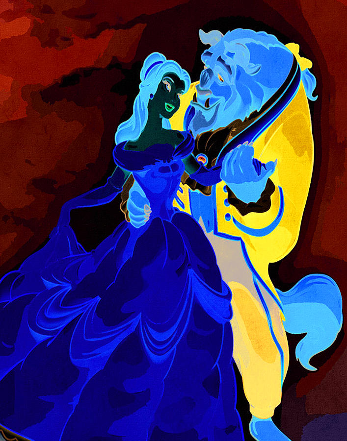 Disney Princess Belle Beauty and the Beast  Digital Art by Midex Planet