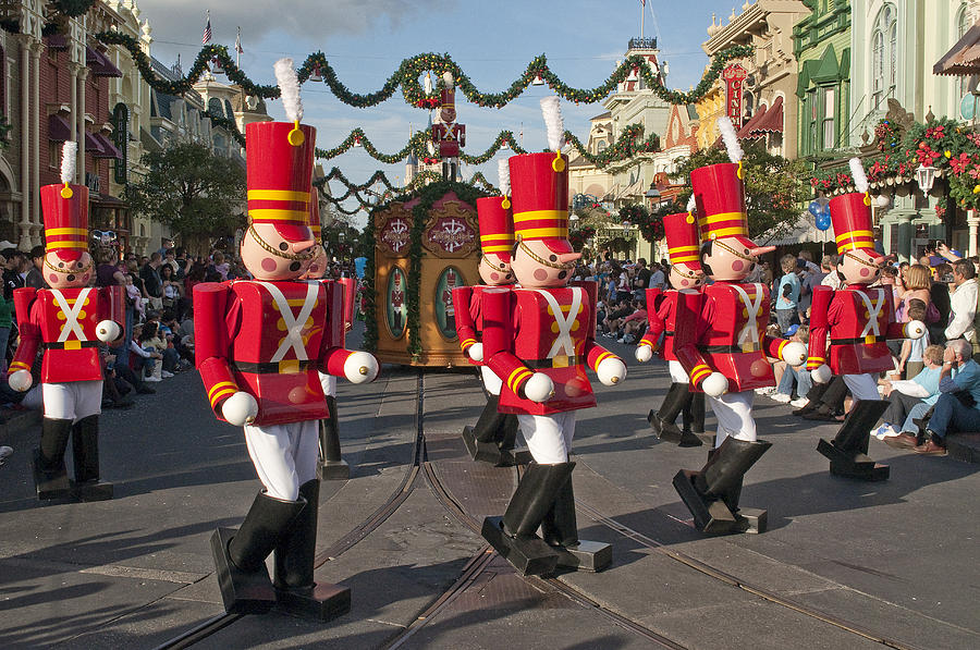 Disney Photograph - Disney  Toy Soldiers on Parade by Charles  Ridgway