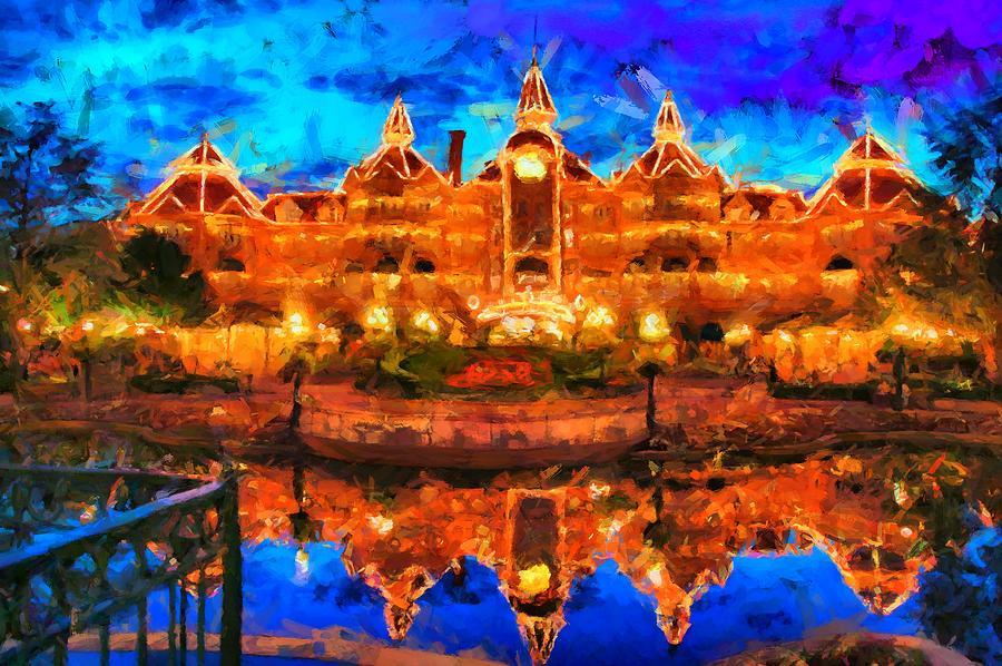 Disneyland Hotel Paris Digital Art