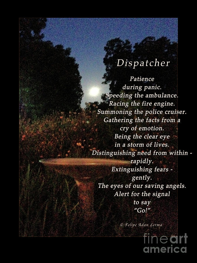 Dispatcher Photograph - Dispatcher by Felipe Adan Lerma