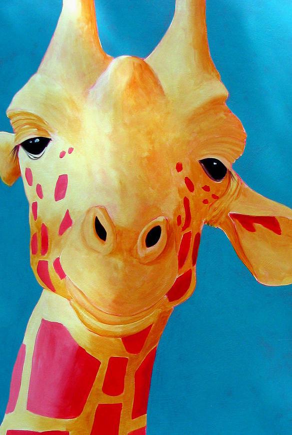 Giraffe Painting - Dissatisfied Giraffe by Scott Gordon