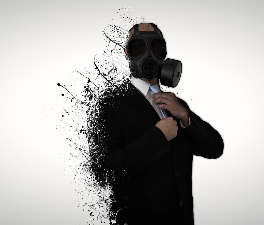 Gas Photograph - Dissolution of man by Nicklas Gustafsson