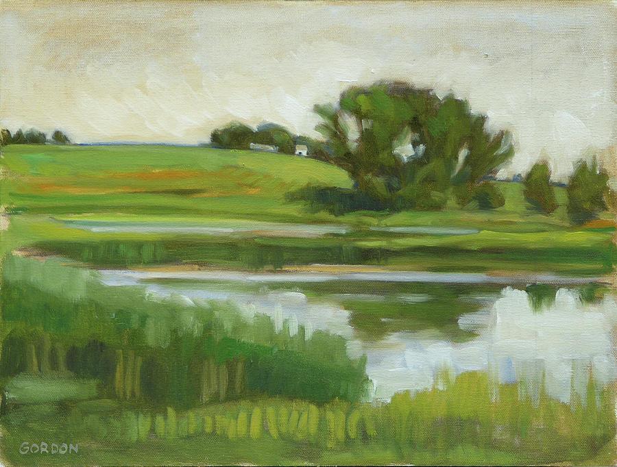 Landscape Painting - Distant Farm by Kim Gordon