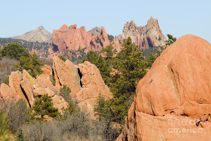 Distant Garden Of The Gods From Red Rock Canyon Photograph