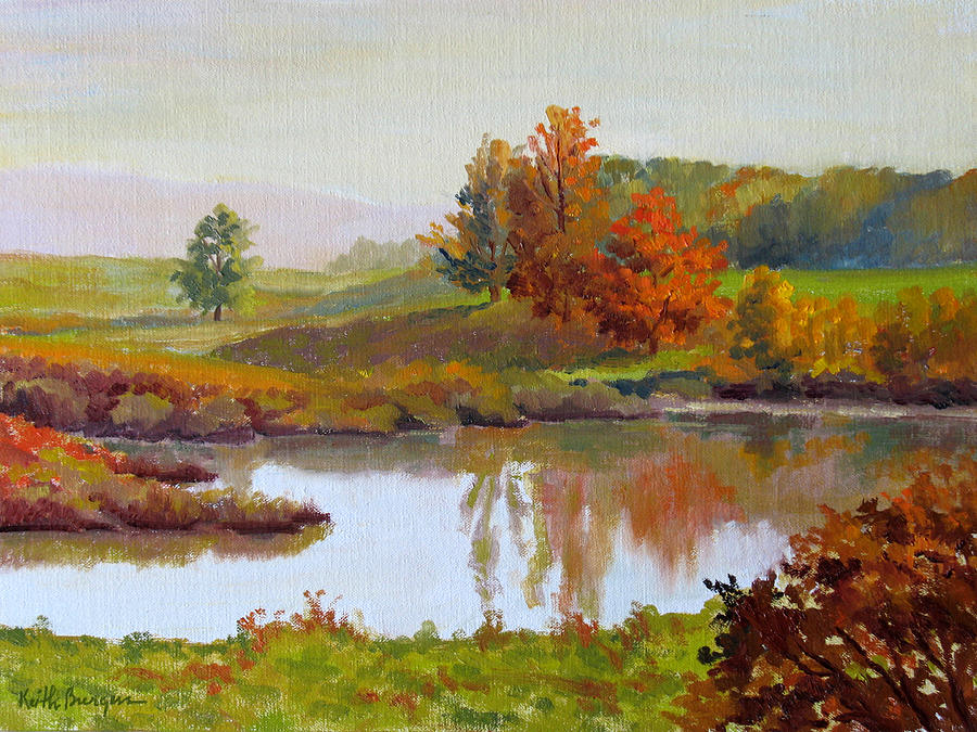 Landscape Painting - Distant Maples by Keith Burgess