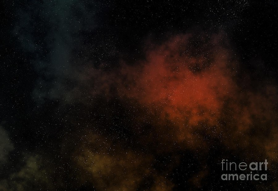Universe Digital Art - Distant Nebula by Michal Boubin