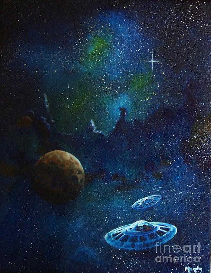 Cosmos Painting - Distant Nebula by Murphy Elliott