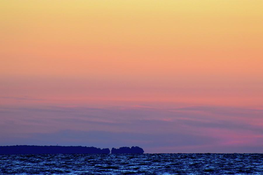 Abstract Photograph - Distant North Shore Of Lake Simcoe  by Lyle Crump