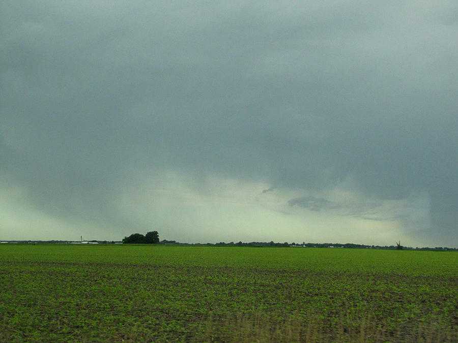 Driving Photograph - Distant Rain Driving Down I 57 by Jessica Tolemy