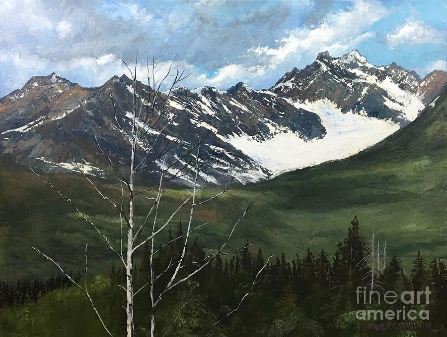 Alaska Painting - Distant Range, Alaska by Wayne Mathisen