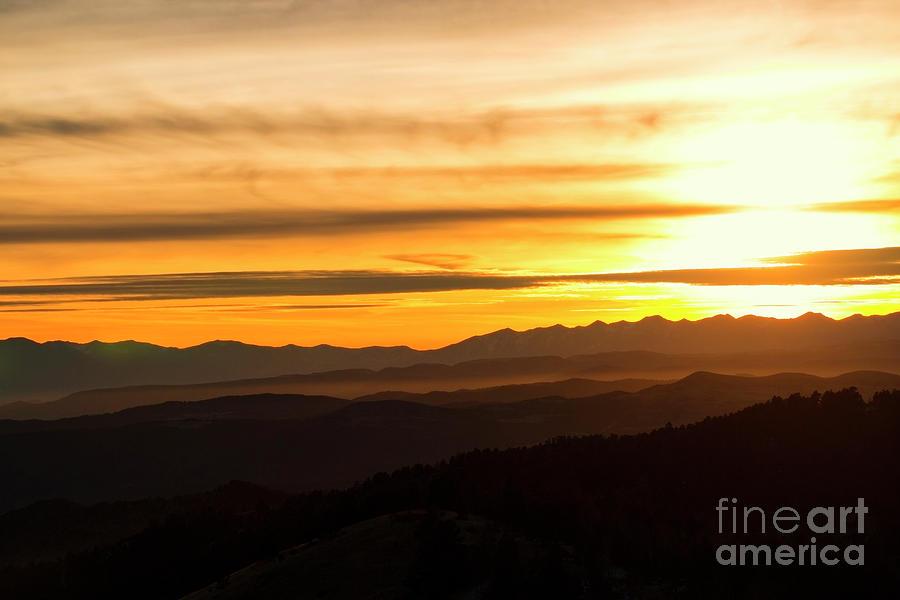Distant Sangre De Cristo Winter Sunset Photograph