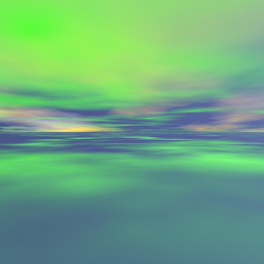 Sunrise Digital Art - Distant Thunder In Pantanal by Taketo Takahashi