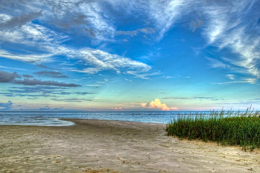 Beach Photograph - Distant Thunderhead by Rich Leighton