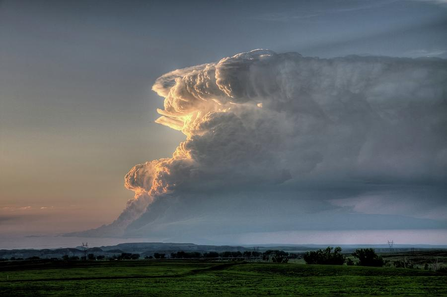 Thunderstorm Photograph - Distant Thunderstorm by Dave Rennie