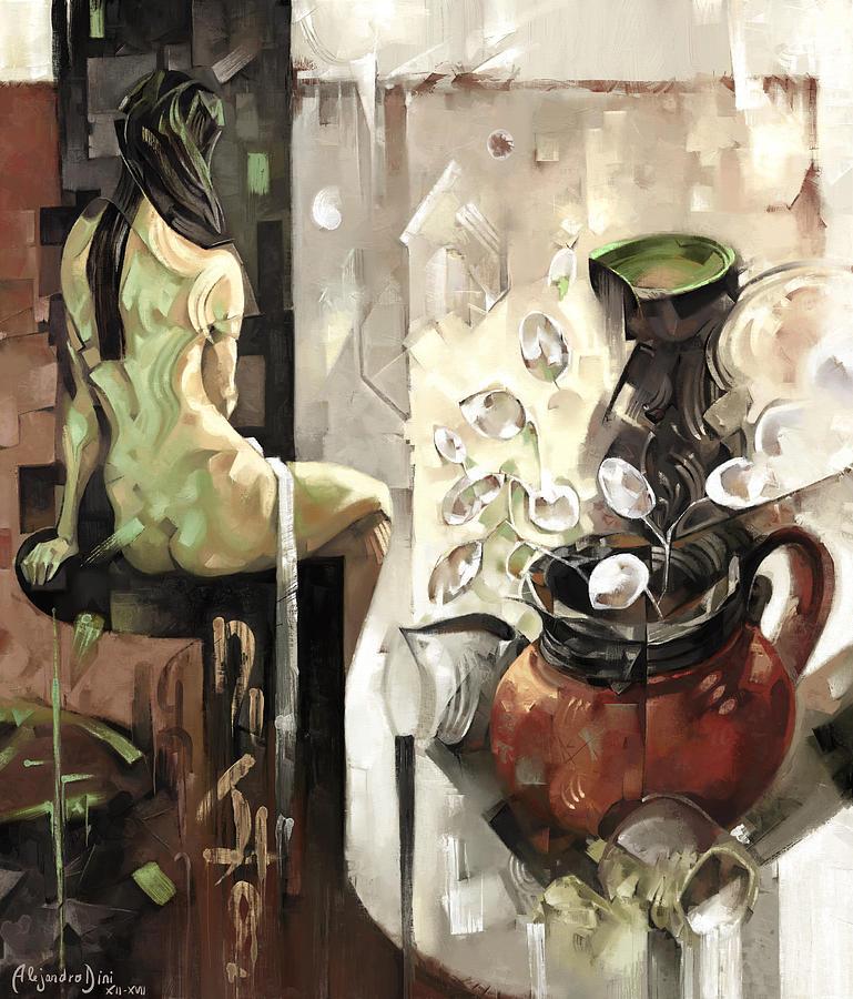 Vase Digital Art - Distill Life by Alejandro Dini