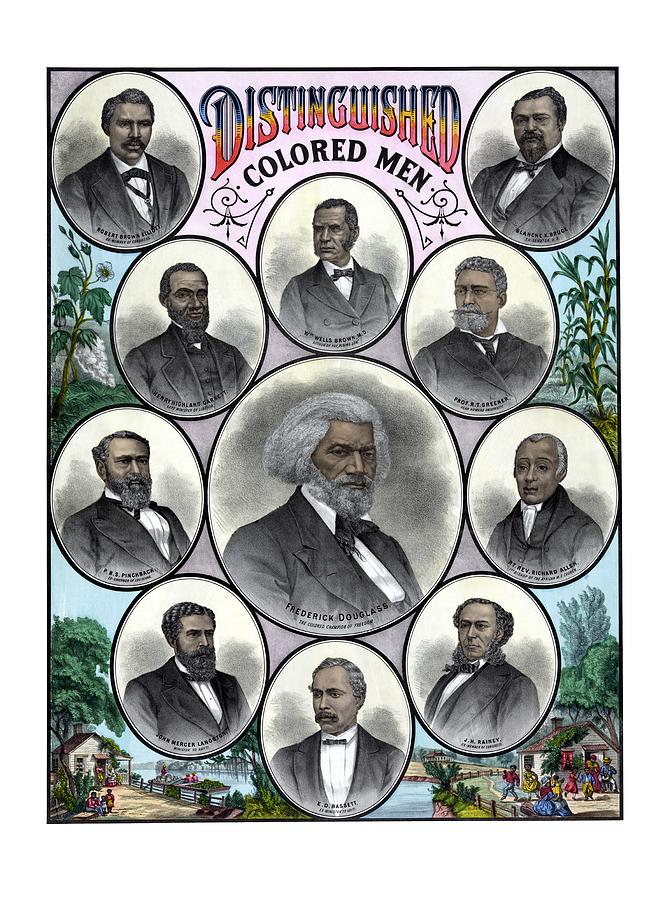 Black History Painting - Distinguished Colored Men by War Is Hell Store