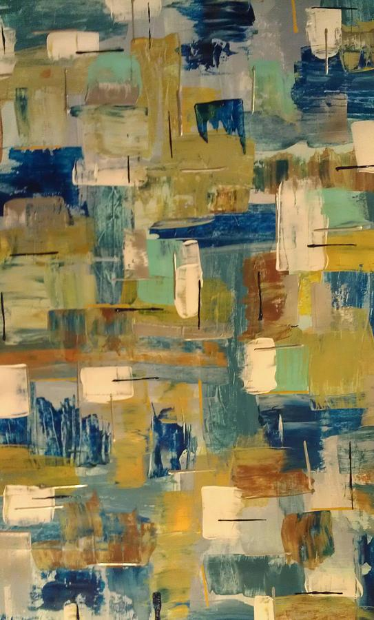 Abstract Painting - Distortion by Sonya Wilson