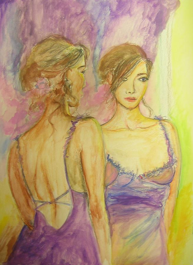 Feminine Painting - Distracted by Lizzy Forrester
