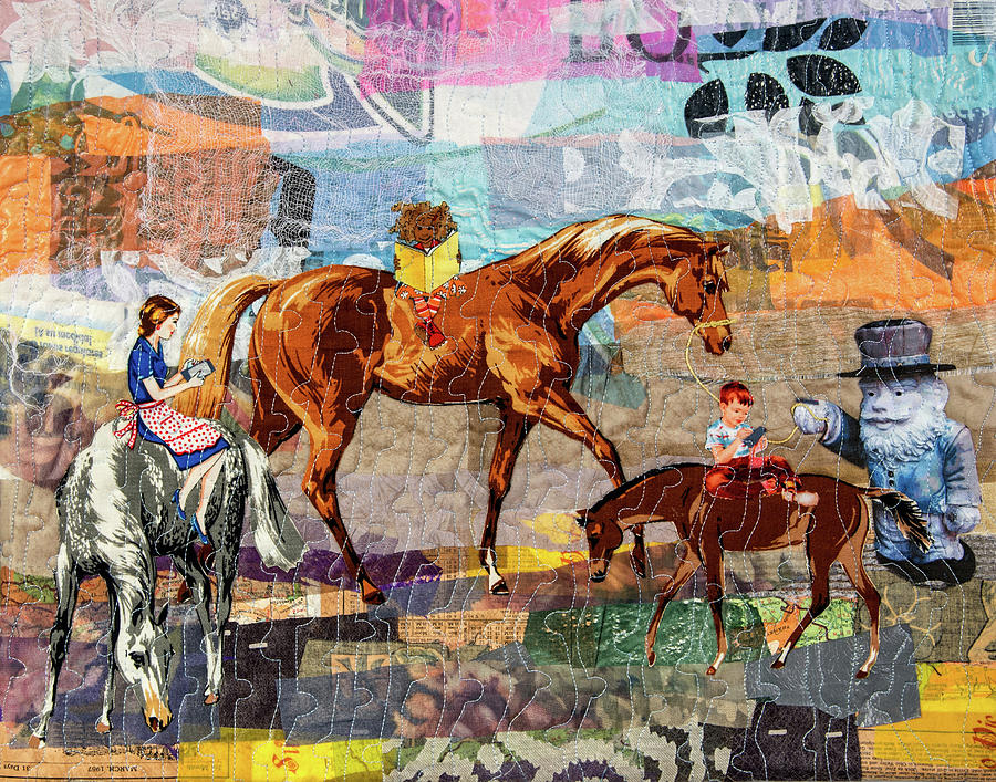 Landscape Tapestry - Textile - Distracted Riding by Martha Ressler