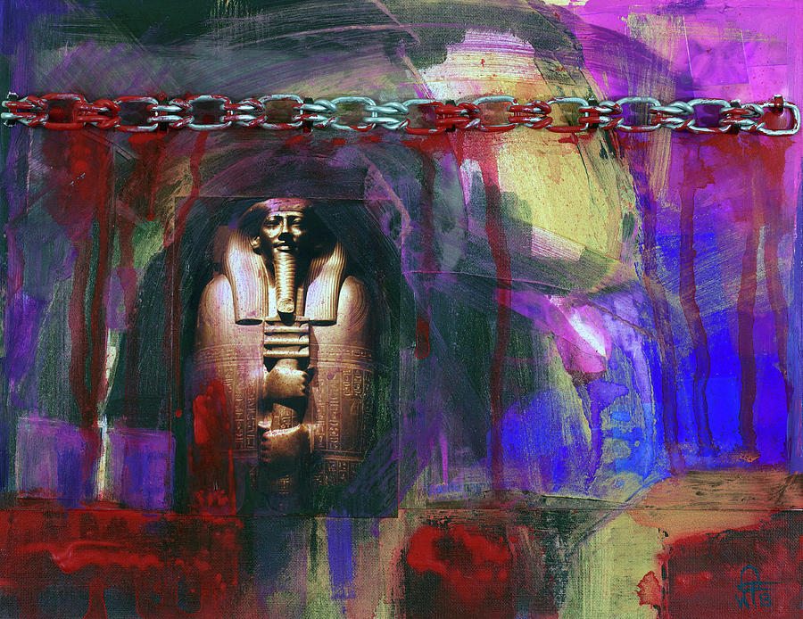 Distressed Civilization  Painting by Walter Fahmy