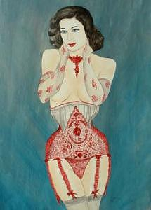 Dita Painting by Cyndee Bessant