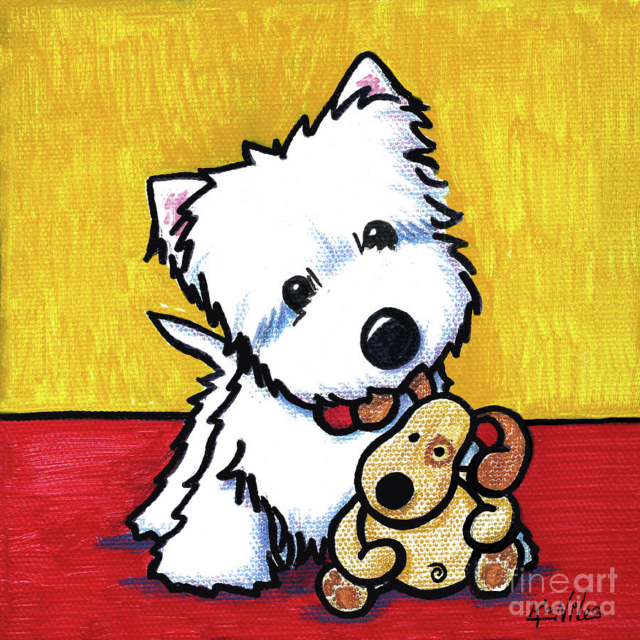 Westie Painting - Ditto And Pudge Painting by Kim Niles