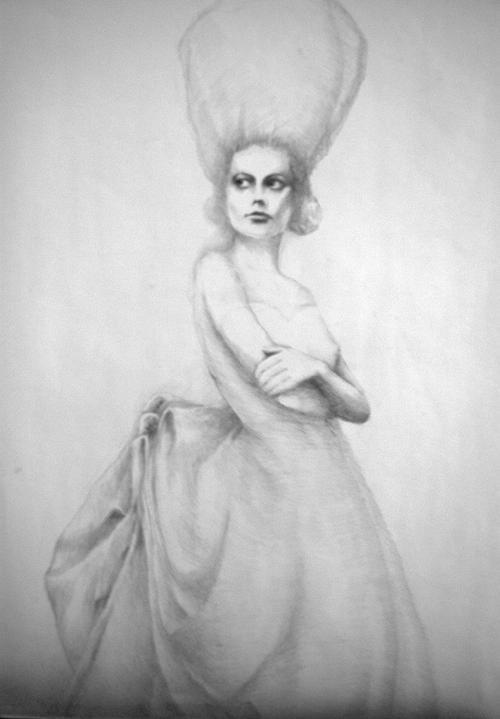 Diva Belle Drawing by Jea DeVoe